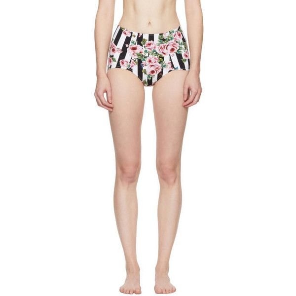Dolce and Gabbana Multicolor Rose High-Rise Bikini Bottoms ($235) ❤ liked on Polyvore featuring swimwear, bikinis, bikini bottoms, multicolor, highwaisted bikini bottoms, colorful bikini, floral high-waisted bikinis, high rise bikini and floral high waisted bikini