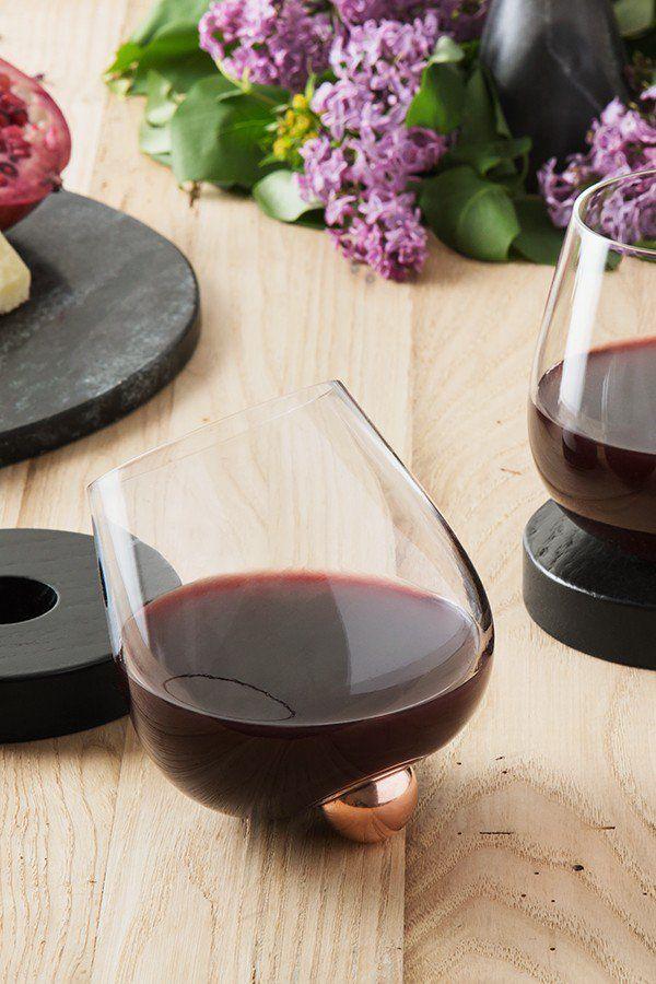 Aura Glass No Spill Aerating Wine Glass Aerator Aerating Wine