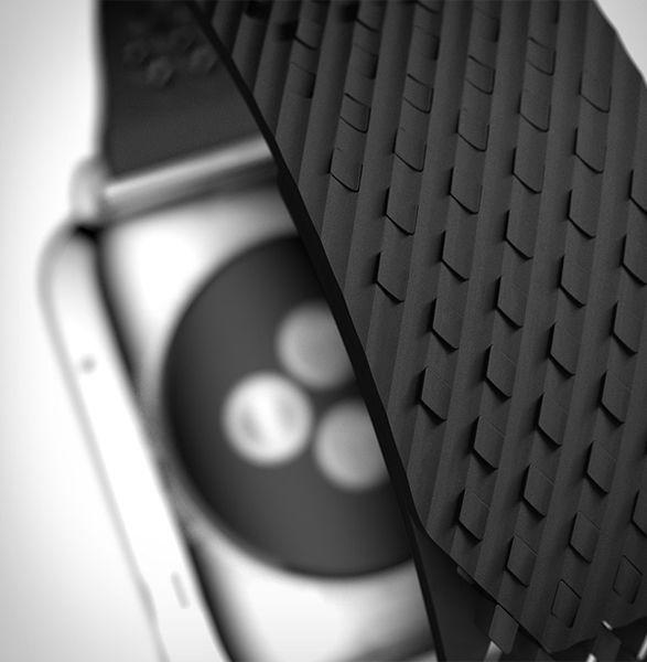 Pulseira LABB para Apple Watch A empresa Noomoon é composta por uma equipe de cientistas loucos por pulseiras de relógio.