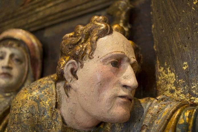 Entierro y llanto sobre Cristo muerto. Pierres Picart. siglo XVI