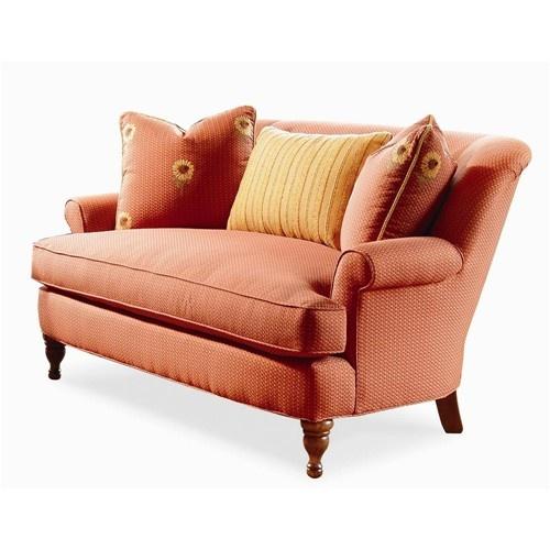 Elegance upholstered settee by century baer39s furniture for Small sectional sofa nashville