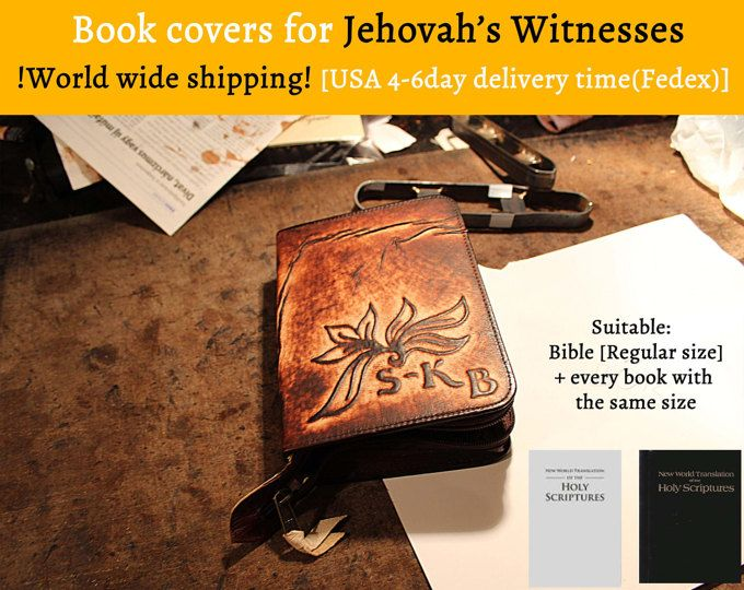 Charles & me makes unique handmade leather covers for our theocratic books. Come and take a look! - We are happy to made special request too. -  Warm Christian love: Richie  Browse unique items from JWBookCovers on Etsy, a global marketplace of handmade, vintage and creative goods.