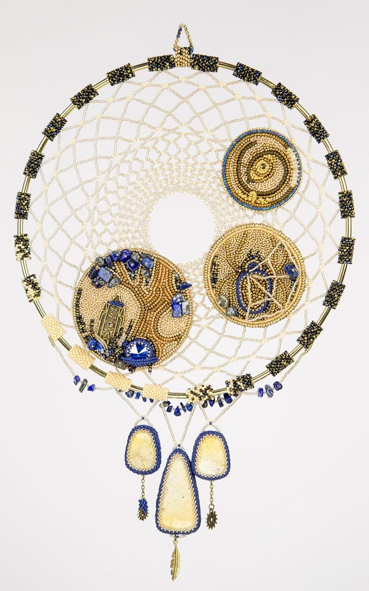 """Beaded Objects And Accessories SECOND PLACE  """"The House Where... Dreamcatcher"""" Elena Potanina"""