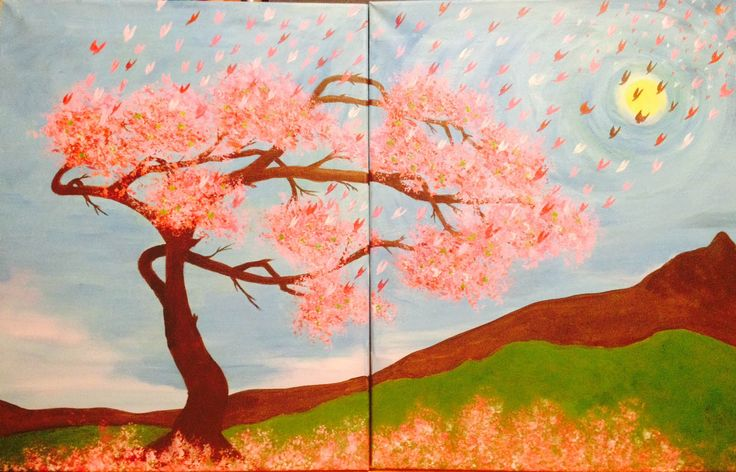 Paint Flight of Sakura with us among friends and fun drinks!