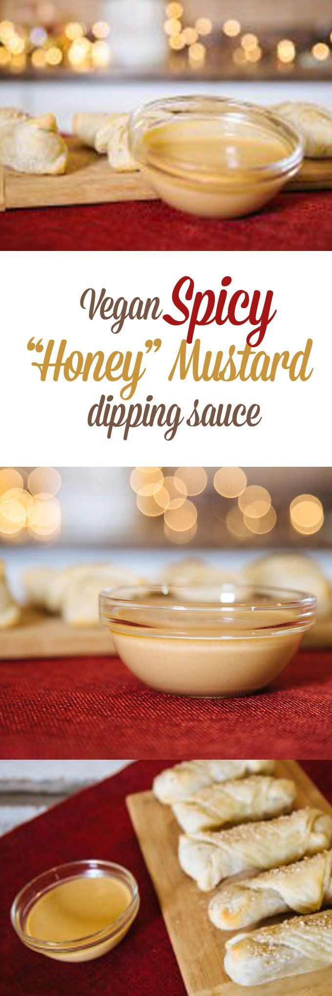 I am going to share with you my favourite vegan Honey Mustard Sauce recipe. It's got some heat!