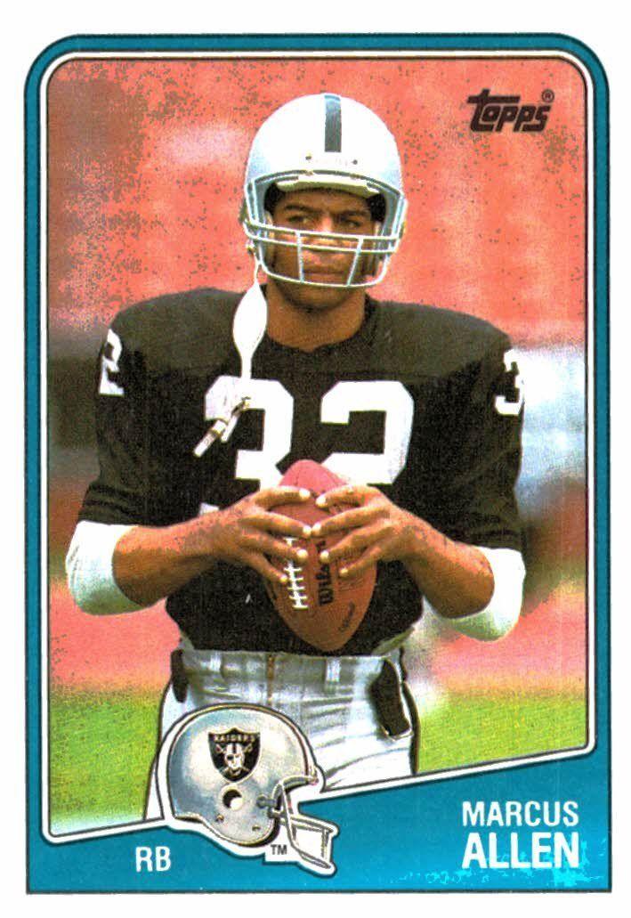 1988 Topps Marcus Allen Los Angeles Raiders