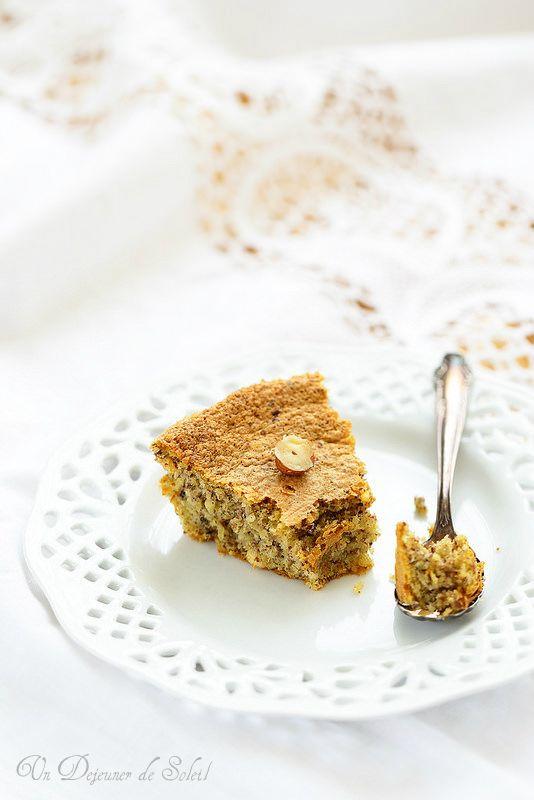 Gâteau moelleux aux noisettes (sans beurre et sans gluten)