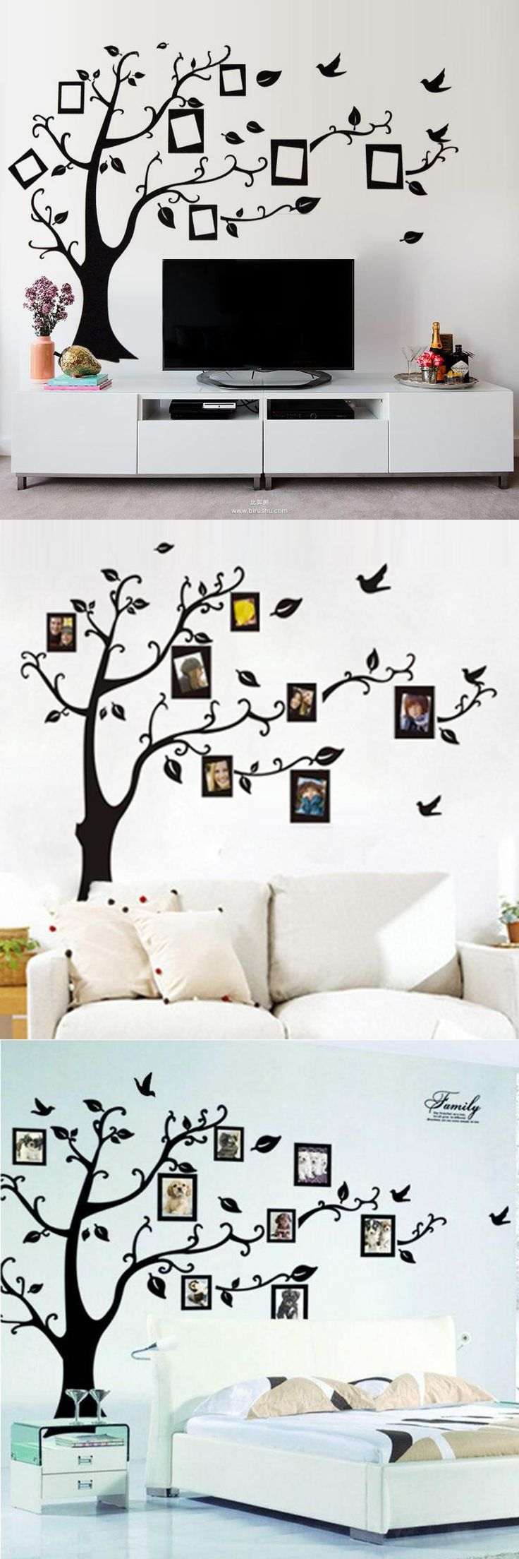 Best 25 brown wall stickers ideas on pinterest vinyl wall big size brownblack photo frame tree wall stickers zooyoo94ab quotes wall arts home amipublicfo Image collections
