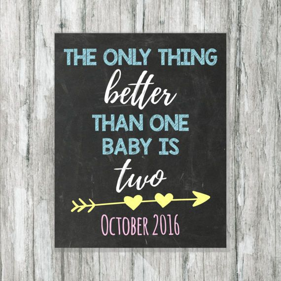 Best 25 Twin pregnancy announcements ideas – Expecting Baby Announcement