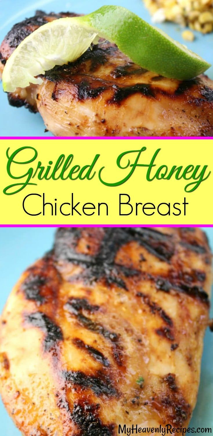 This is  THE BEST grilled chicken breast you will ever have in your life! The super easy marinade is just a few simple ingredients and allows the chicken to be incredibly juicy! A quick & easy dinner recipe that is also perfect for entertaining! #chicken #recipe #dinner #party via @heavenlyrecipe