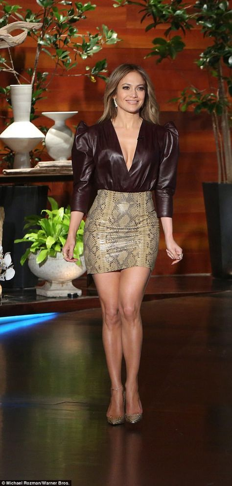 New project: Lopez appeared on Ellen to promote her new NBC show, World of Dance ...