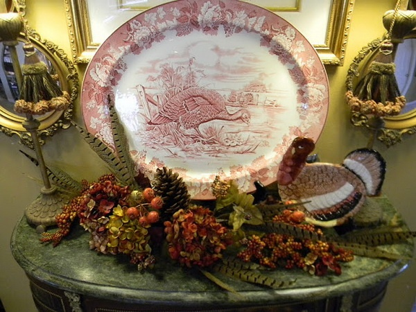 English-thanksgiving-transferware... such a beautiful Thanksgiving table setting