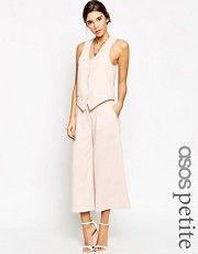 Falda pantalón de conjunto con diseño de lujo de pernera ancha de ASOS PETITE
