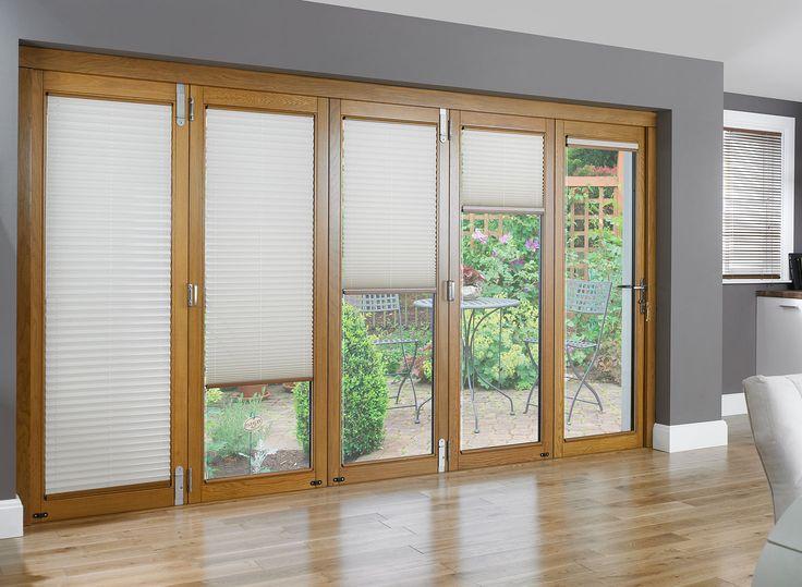 Blinds on bi-fold doors