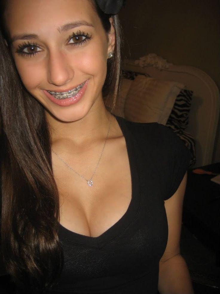 Braces and big tits