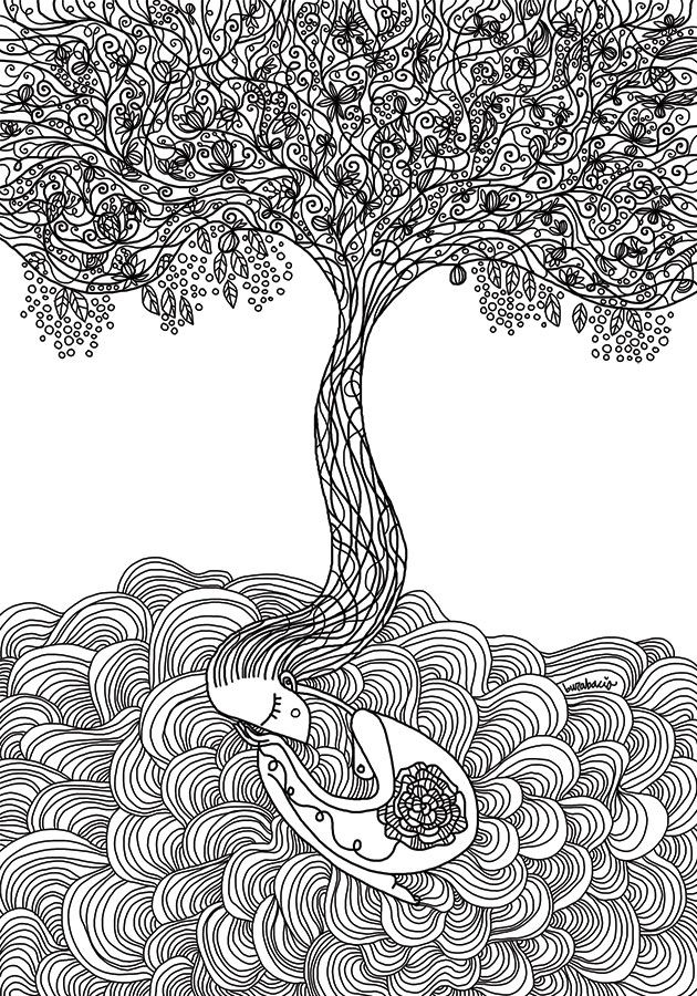 L'albero della vita è un disegno che mi frullava in testa da un po' di tempo, tutta colpa di Campbell, del mito, del morire per rinasceree compagnia bella, le mie elucubrazioni e la prima bozza le...