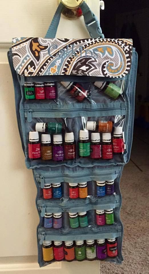 Our new Thirty-one Jewelry Keeper is a great way to store your Young Living Essential Oils!