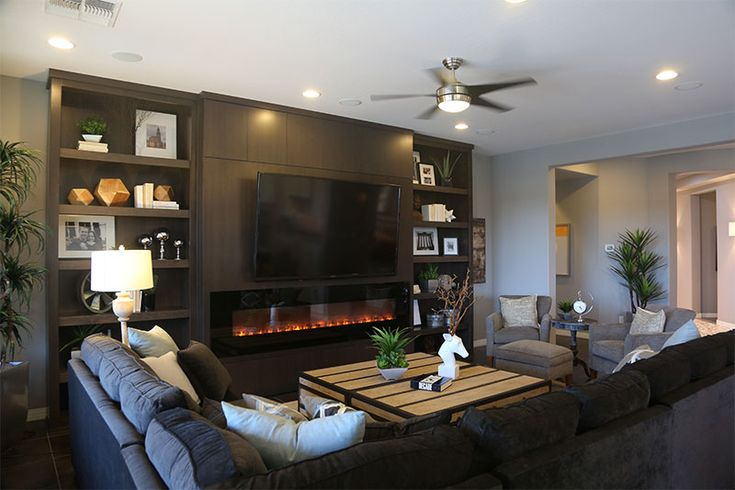 Sarah Check Hearth Cabinet: Electric Fireplace With Built In Cabinets