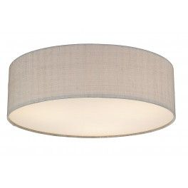 Paolo 3 Light 500MM Flush complete with Silk Shade Silver Grey