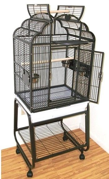 Parrot Cage Opening Top w/ Cart & Shelf by HQ 92217C