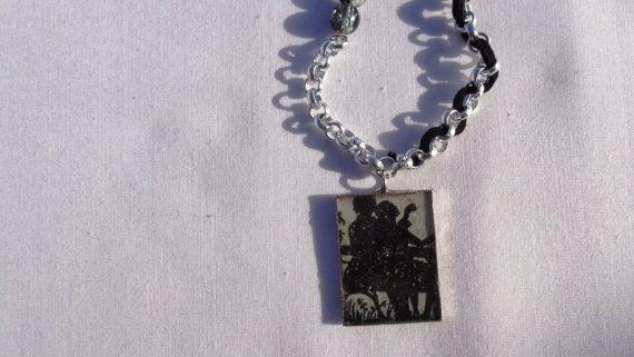 Romantic necklace decoupage pendant liquid by ArtisticBreaths