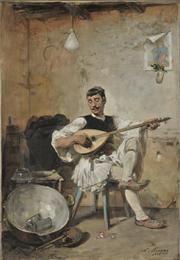 Milkman Resting        [Friendly Printing]      Lytras Nikephoros (1832 - 1904)     Milkman Resting, 1895     Oil on canvas , 53 x 37 cm.     Donated by Argyris Chatziargyris , Inv. no: Π.1797