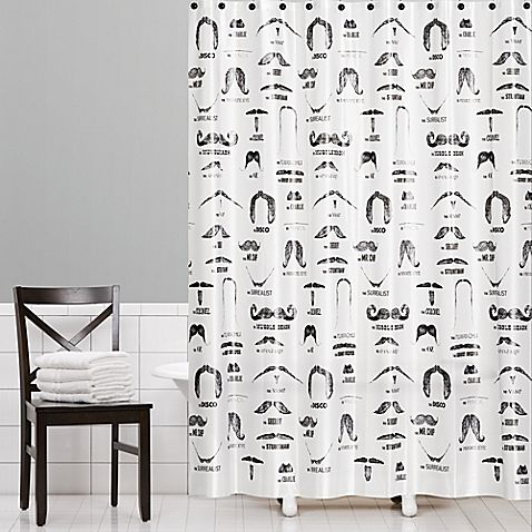 Add the feel of an old fashioned barber shop to your bathroom. The Barber Shop PEVA Shower Curtain features an assortment of fun facial hair fashions printed on a white background. This stylish curtain is 100% PEVA and easy to clean.