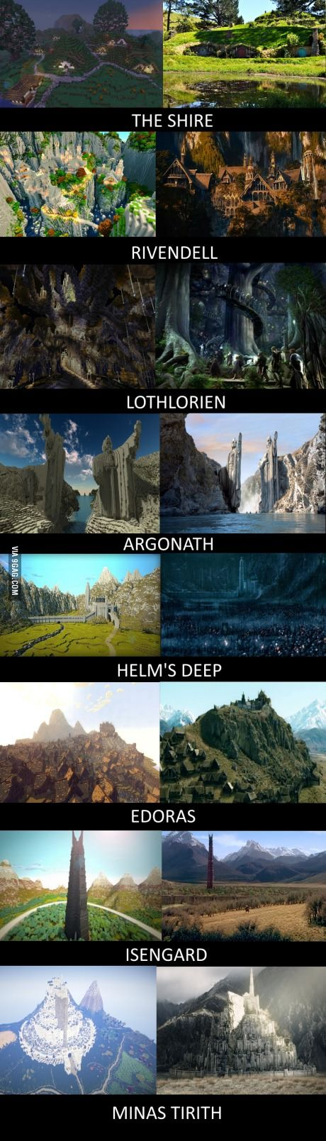 Middle Earth brought to life in Minecraft. Amazing!
