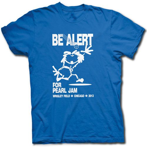PEARL JAM WRIGLEY FIELD CONCERT T SHIRT - Vedder Comes Home For Chicago Cubs Show