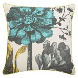 "Thomas paul pillow ""Botanical"" in aqua"
