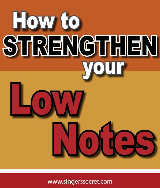 A simple but effective exercise to help strengthen your LOW NOTES. http://singerssecret.com/how-to-strengthen-low-notes #singing #singingtips #howtosing
