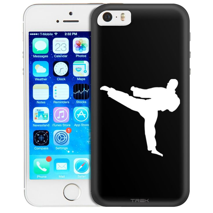Apple iPhone SE Silhouette Martial Arts on Black Trans Case