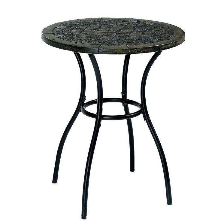 Furniture Of America Braum Black Stone Top Bistro Table By Furniture Of  America