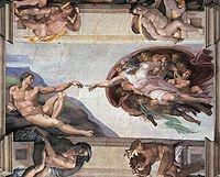 Création d'Adam - Chapelle Sixtine - Michel Ange