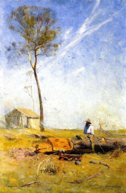 The Selector's Hut, Arthur Streeton