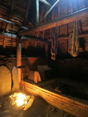 Add to the around the country after graduation trip? I think YES!  Reconstructed House Interior at l'Anse aux Meadows - Eric Titcombe http://archaeology.about.com/cs/explorers/a/anseauxmeadows.htm