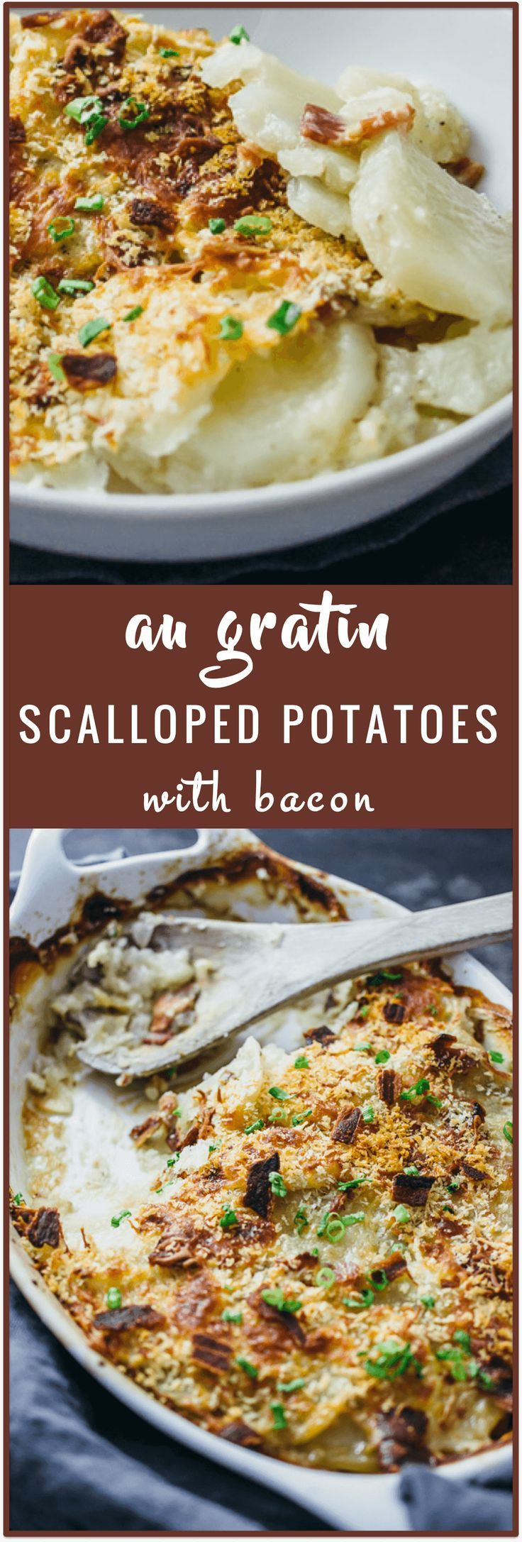 Scalloped potatoes au gratin with bacon - Here's an easy homemade recipe for…