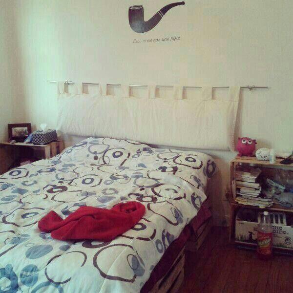 M s de 25 ideas incre bles sobre cabeceras de tela en - Cabeceros de cama en tela ...