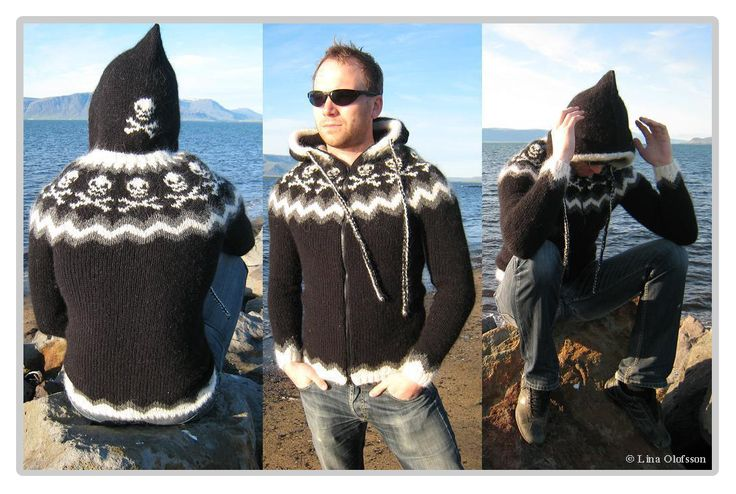 awesome hooded lopapeysa... with skulls!