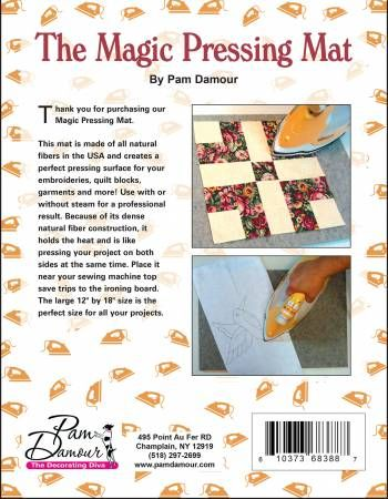 Magic Pressing Mat By Pam Damour 610373683887 Quilting