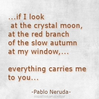 analysis of poetry by pablo neruda Abstract the poetry of chilean poet pablo neruda evolved from symbolist, to surrealist and eventually to realist - pablo neruda: poetry and politics introduction but his poem united fruit co is a union of these three styles.
