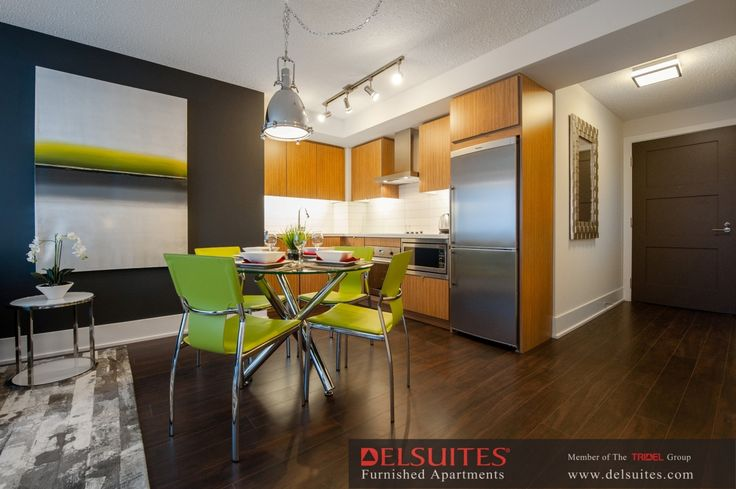 Dining & Kitchen of our furnished apartment in toronto