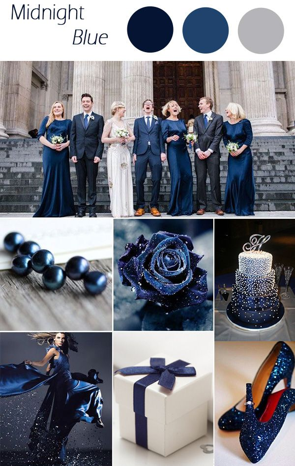 midnight blue winter wedding colors 2015 trends