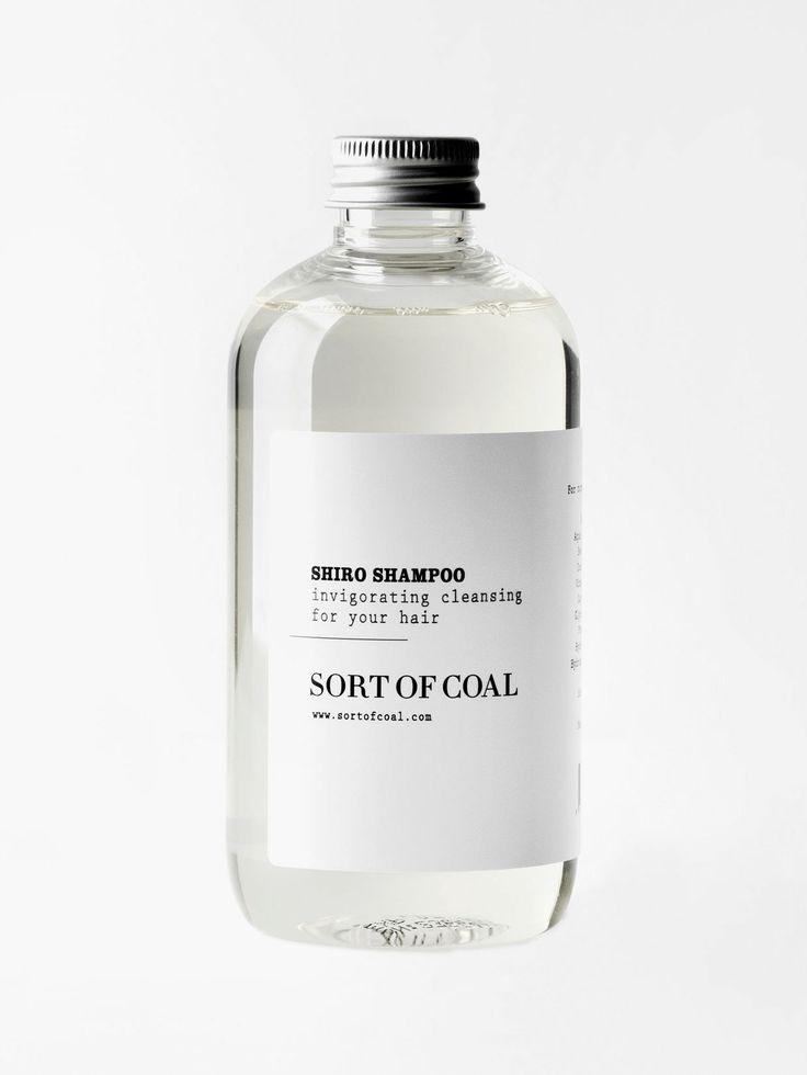 SORT OF COAL Shiro Shampoo, made in Denmark