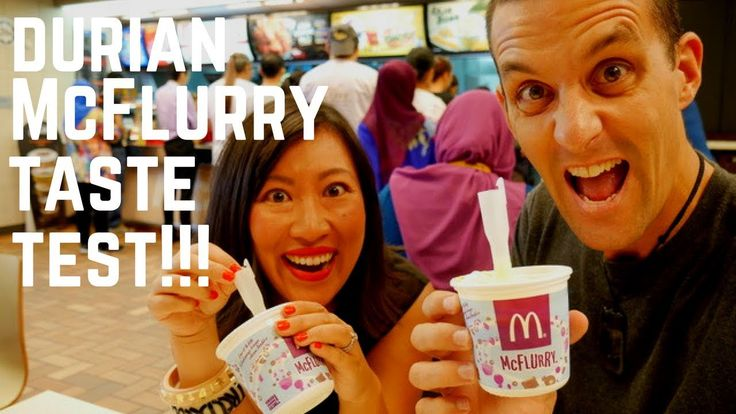 VIDEO! The fruit that divides people has been turned into an ice cream sundae! McDonald's has released its D24 Durian McFlurry in Malaysia! Watch our video to see what all the fuss is about... | Food and Travel Channel | Chasing a Plate