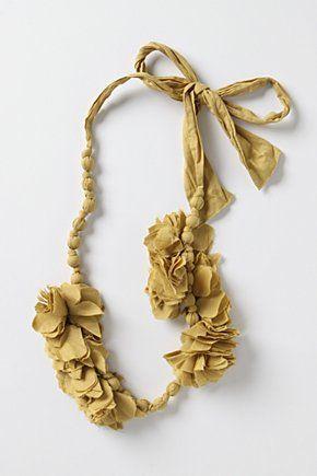 Anthropologie Necklaces, Fabrics Flower, Akelas Necklaces, Beads Necklaces, Fabrics Beads, Anthropology Necklaces, Fabrics Jewelry, Fabrics Stores, Fabrics Necklaces