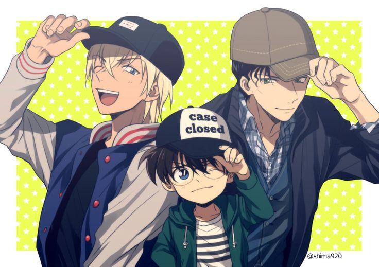 Detective Conan Case Closed Akai Shuichi Edogawa Conan  Kudô Shinichi Touru Amuro