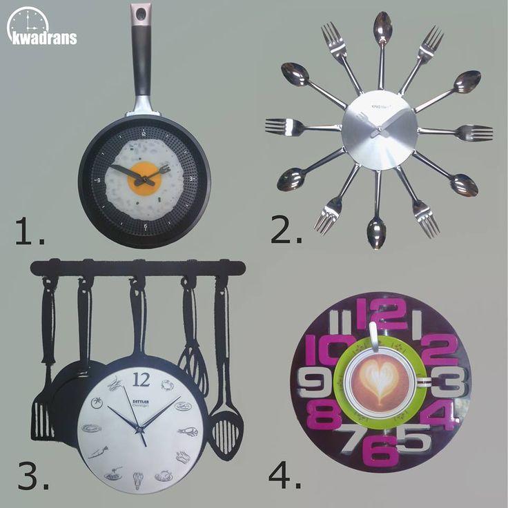 CREATIVE KITCHEN CLOCKS / Kreatywne ścienne zegary kuchenne