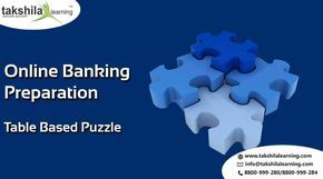Online Banking Test Series Classes Table Based Puzzle,Online Banking Classes