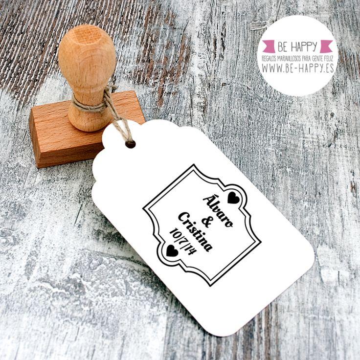 """Sello Personalizado Boda Modelo """"G"""". A la venta en www.be-happy.es #sello #stamp #wedding #boda #behappy"""